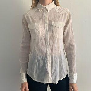 Rag & Bone Women's cream shirt